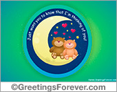 Ecards: Love bears free ecard