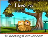 Greeting ecards: Love