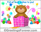 Ecards: Surprise gift with little bear