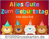 Bären-Geburtstags-EKarte