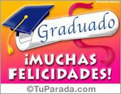 Tarjeta - Muchas felicidades al graduado