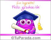 Tarjetas postales: Tarjeta de graduación con diploma