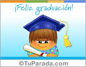Tarjetas, postales: Graduación