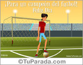 Tarjeta para un futbolista