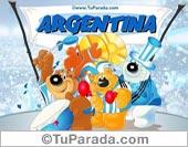 Tarjetas postales: Tribuna de Argentina