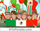 Fiestas Patrias de México - Tarjetas postales: México