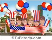 Tarjeta de Fiestas de Estados Unidos
