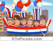 Tarjeta de Fiestas de Paraguay