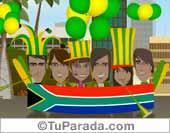 Fútbol, selecciones - Tarjetas postales: Sudáfrica