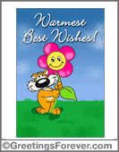 Chizu - Greeting ecards: Best wishes
