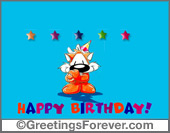 Chizu - Greeting ecards: On your birthday...