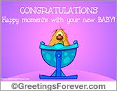 Baby - Tarjetas postales: A new baby