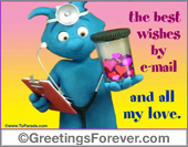 Greeting ecards: Best wishes