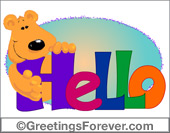 Greeting ecards: Hello