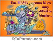 Tarjeta - Una mamá como tú...