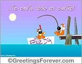 Tarjetas postales: Todo mi cariño...