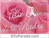 Tarjetas postales: Rosas para mamá
