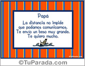 Tarjeta - Papá...