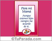 Tarjeta - Para una madre muy especial