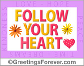 Ecards: Follow your heart