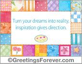 Inspirational ecard