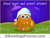 Ecards: Good night and sweet dreams
