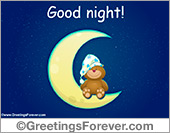 Greeting ecards: Good Night