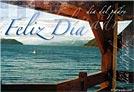 Tarjeta - Feliz día con paisaje de lago