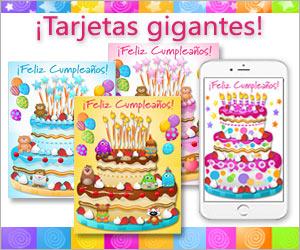 Tarjetas de cumpleaños gigantes