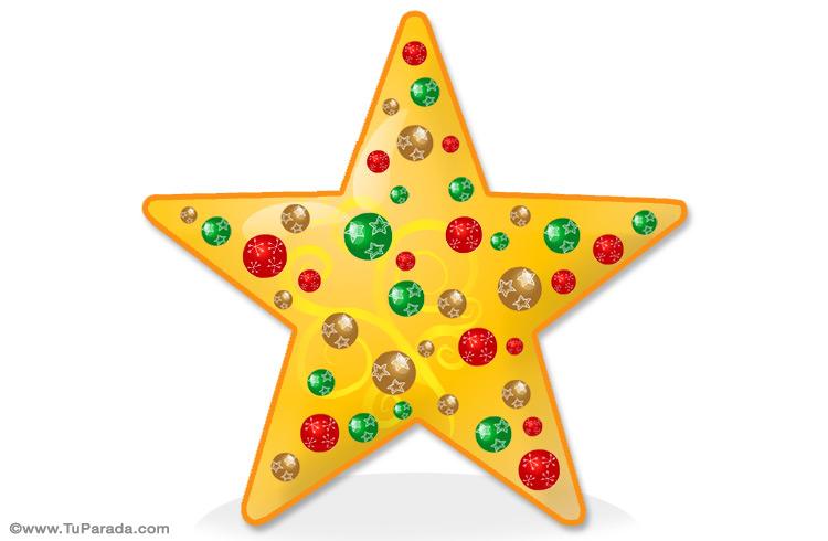 Estrella de navidad para adornar manualidades de navidad - Decorar postales de navidad ...
