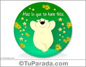 Adorno de oso feliz