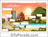 Vocabulario: la granja, the farm. Imprimir.