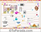 Vocabulario: la cocina, the kitchen. Imprimir.