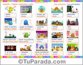 Vocabulario español - inglés: las actividades, the activities.