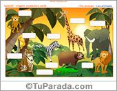 Vocabulario: los animales, the animals. Imprimir.