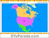 Mapa de América del Norte político