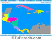 Mapa de América Central para completar