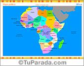 Mapa de África con división política