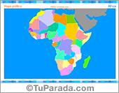 Mapa de África para completar