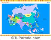 Mapa de Asia con división política