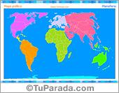 Mapa Planisferio para completar