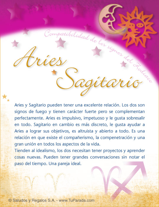 La compatibilidad sexual aries sagitario