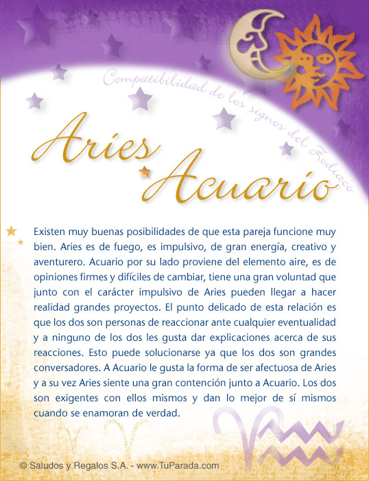 Aries for Signo acuario para hoy