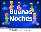 Hola, saludos y buen día - Tarjetas postales: Tarjeta de Buenas Noches con ángeles
