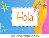 Hola, saludos y buen día - Tarjetas postales: Tarjeta de saludos