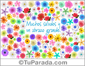 Tarjetas postales: Tarjeta de saludos y abrazo