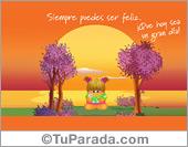 Tarjetas, postales: Siempre puedes ser feliz