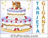 Tarjetas postales: Torta de Bodas gigante