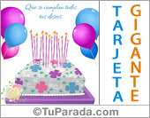Tarjeta de Cumpleaños formales