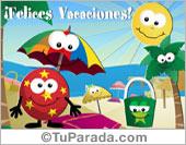 Tarjetas, postales: Vacaciones